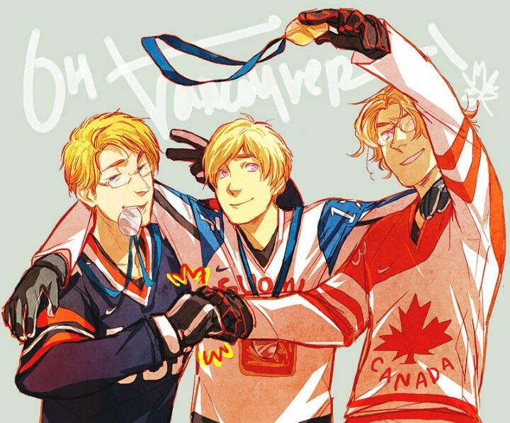 Hockey, Winter Olympics 2010 - US, Russia, Canada // That's me lads! ...Oh, and Russia too.  But mostly Al and Mattie!
