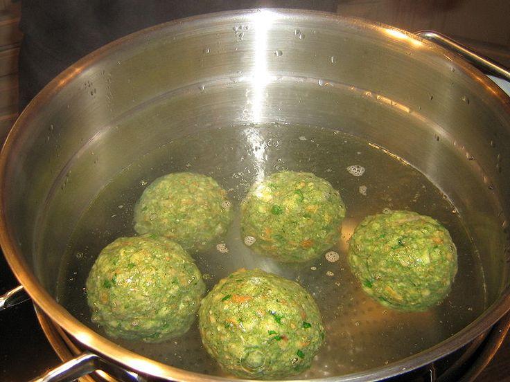 German Spinach Dumplings • German Recipes