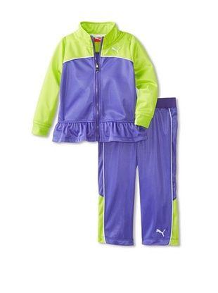 69% OFF Puma Girl's Colorblock Peplum Tricot Set (Simply Purple)