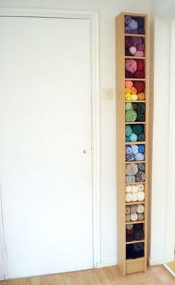 Morrgan's Creatures: A Teetering Tower of Yarn CD stand, yarn storage
