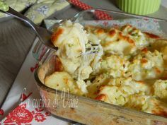 Pasticcio filante di patate e broccoli al forno