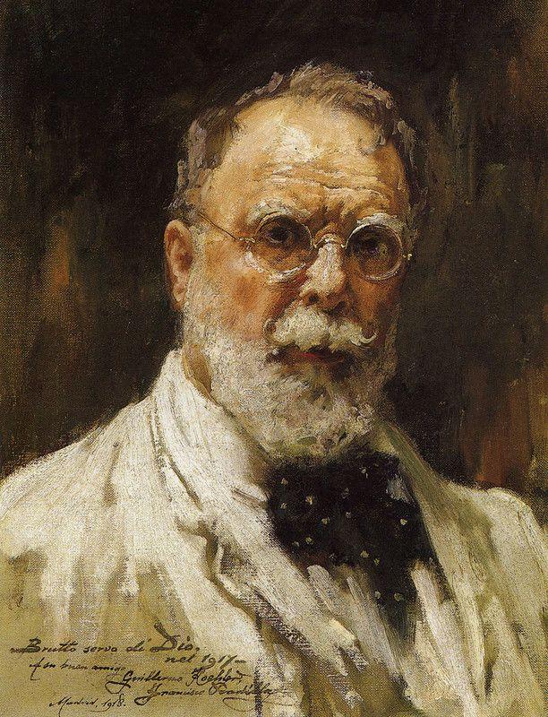 Francisco Pradilla y Ortiz (1848-1921) - Autorretrato de 1917 - Pintor español, director de la real Academia de España en Roma y del Museo del Prado.