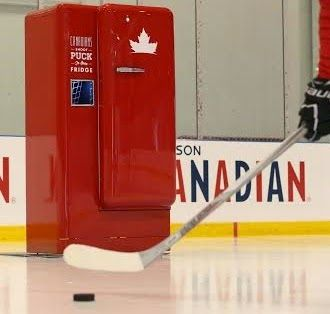 Molson Canadian Slap Shot Beer Fridge, and it will be on display in both Montreal and Toronto during the IIHF World Junior Championship. It only opens if a puck is shot through the puck slot, so start working on that accuracy! Prizes will include Team Canada jerseys, tickets to games throughout the World Junior Championship, and much, much more! How cool is that?