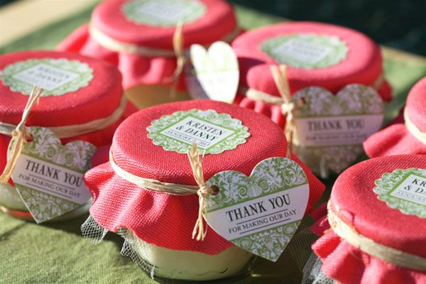 Diy candle favors
