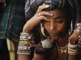 Ethiopian jewelry upcycled from empty artillery shells. #ethnic #jewelry