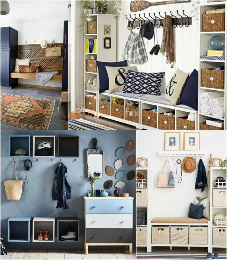 Entryway Storage Ideas. Home Storage Ideas. Explore more Entryway Storage Ideas on https://positivefox.com #entrywaystorageideas #homestorageideas #homeideas #enrtywayideas #interiordesign #entryway #diy