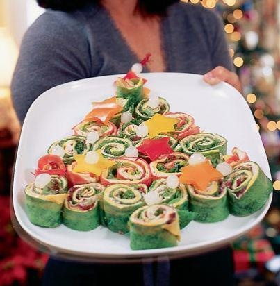 Cute Tree Snack  http://spoonful.com/recipes/wrap-n-stack-sandwich-tree
