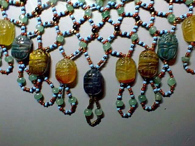 ancient Egyptian beaded collar