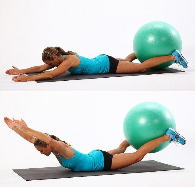 Use an exercise ball to tone and tighten your legs.
