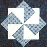 tutorial - Wings of Blue quilt block