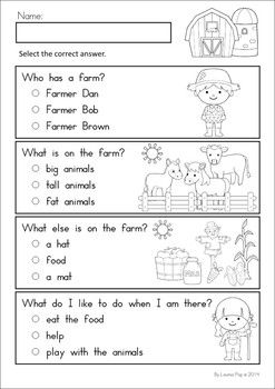 farm math literacy worksheets activities my tpt products literacy worksheets. Black Bedroom Furniture Sets. Home Design Ideas