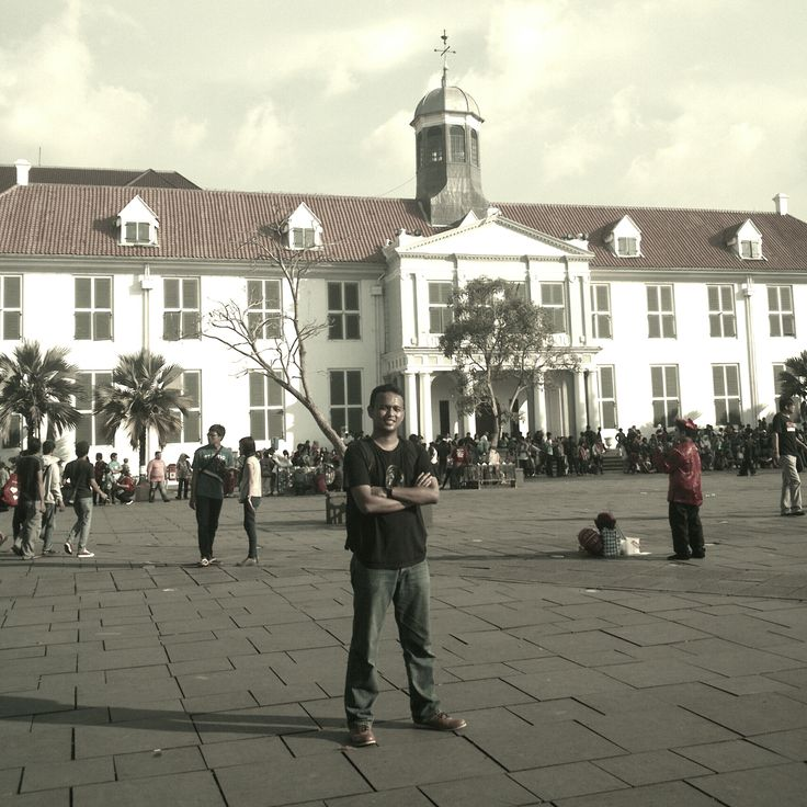 Kota tua - Jakarta, Indonesia. The old city centre - Batavia. Town Hall built by the Dutch