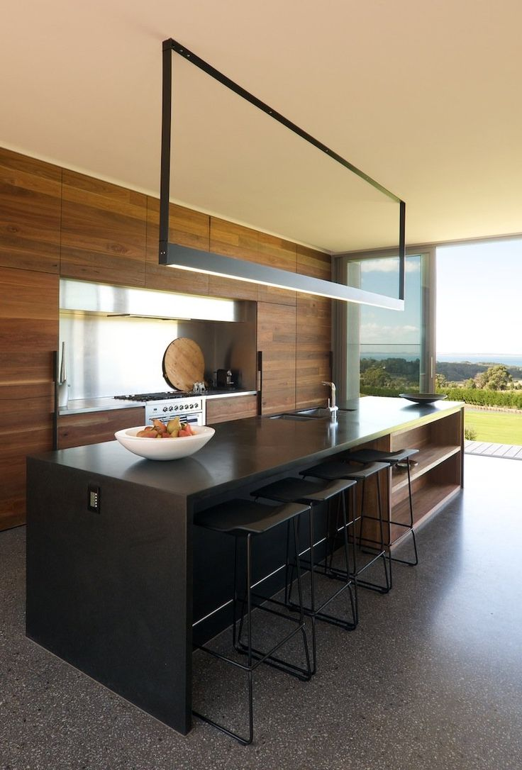 Beautiful Kitchen Lighting   SJB Architects   Timber, Black, White, Concrete