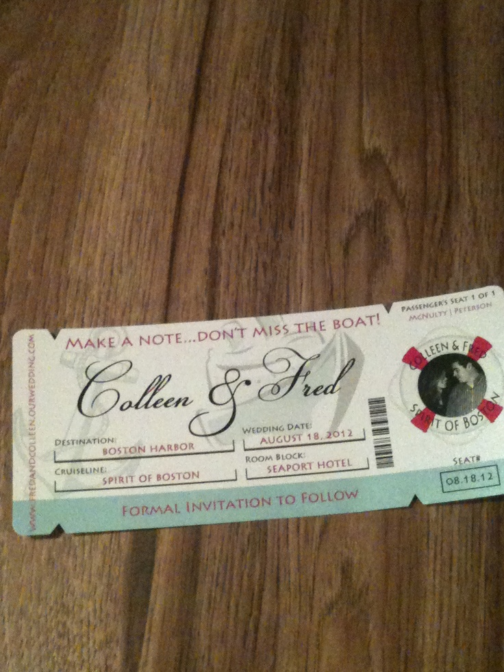 movie ticket stub wedding invitation%0A Our Save the Date  would be cute if it were a movie stub  Ticket InvitationAirplane  Wedding