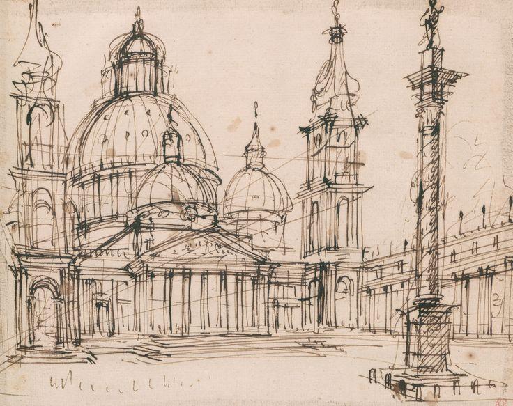 Studio per il primo progetto del Duomo nuovo di Torino, 1728