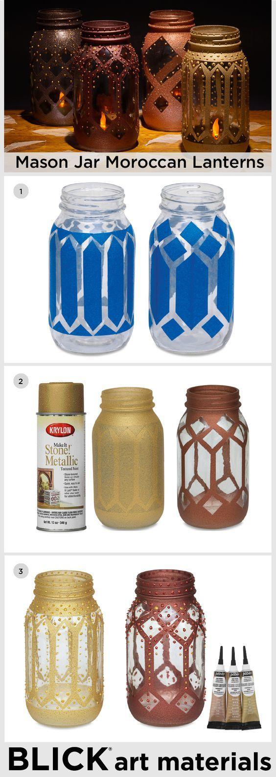 Moroccan mason jars #MoroccanDecor