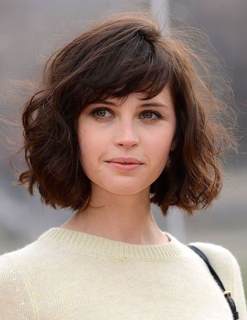 Cute Hairstyles For Curly Hair With Side Bangs : Best lob bangs ideas on short hair