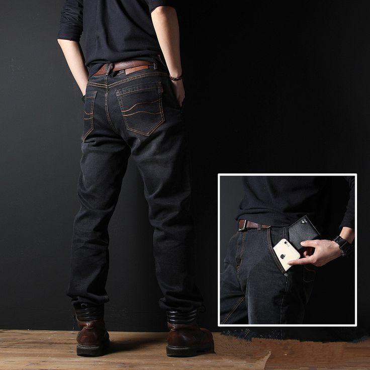Aliexpress.com: Comprar Mr. marke Vaqueros de Los Hombres Rectos Flojos 75% de Algodón Para Hombre Marca De Ropa Pantalones Vaqueros de Gran Tamaño 29 38 40 de Largo pantalones de jeans maternity fiable proveedores en Fashion Flash