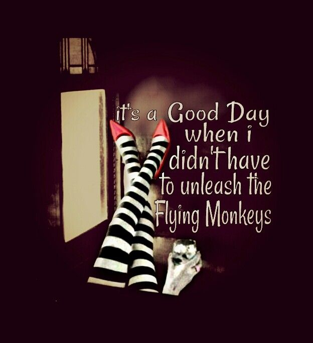 it 39 s a good day when i didn 39 t have to unleash the flying monkeys things for my wall. Black Bedroom Furniture Sets. Home Design Ideas