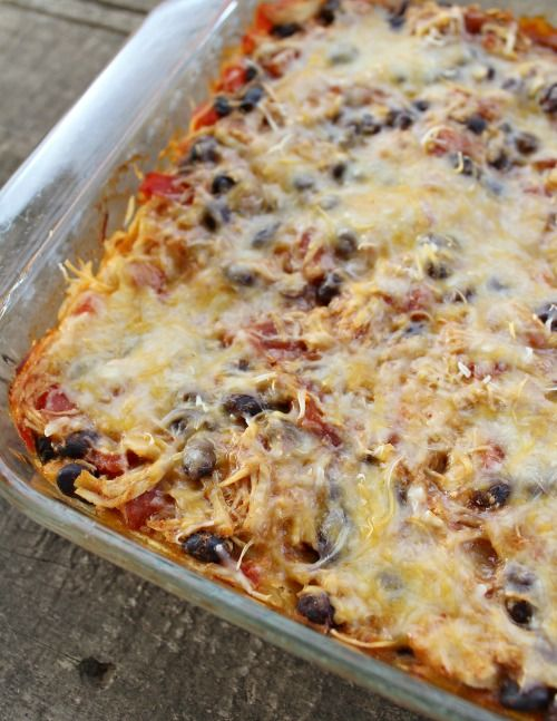 Weight Watchers Chicken Enchilada Bake i.p.v. tortilla: quina of rijst of couscous