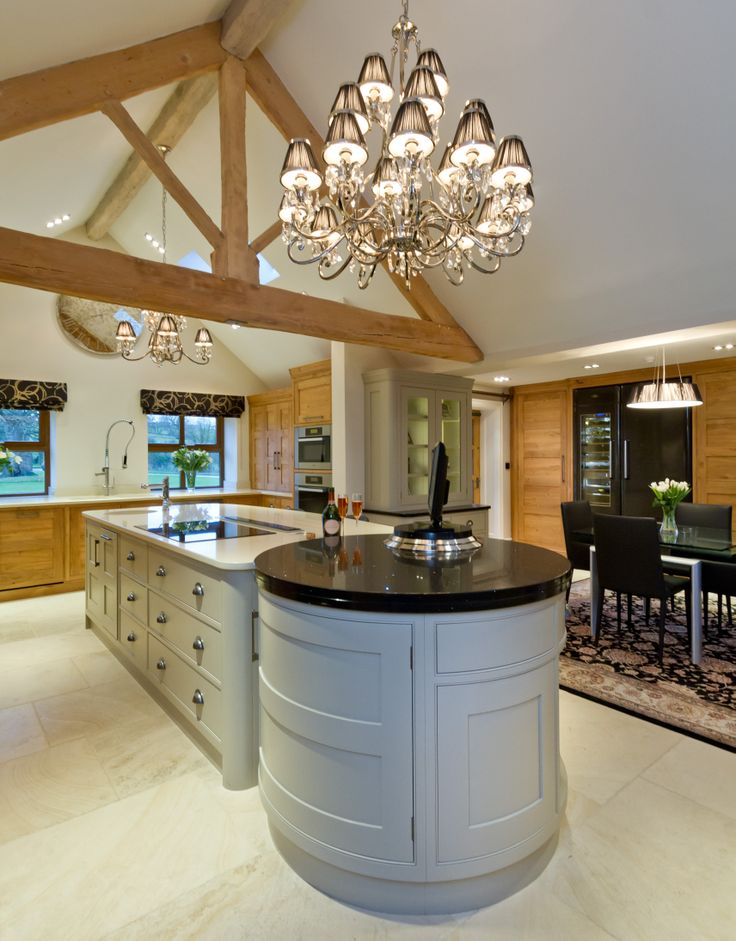 A stunning island unit forms the centerpiece of the kitchen