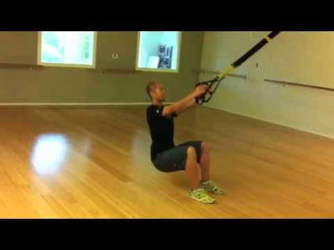 The Studio-TRX Squat to Row : TRX Squat to a Row: focuses on the lower and upper body. The TRX Squat allows for safe and effective body alignment to target the correct lower body muscles without involving your low back. The Row focuses on the upper body including the bicep and mid to upper back. #ClubSportFitness #WorkoutVideos