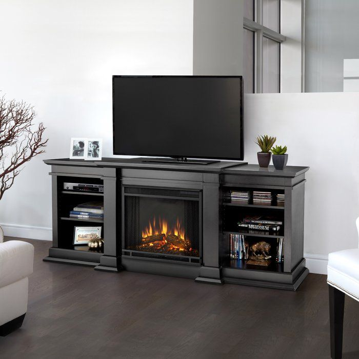 Fresno Tv Stand For Tvs Up To 78 Inches With Fireplace Included