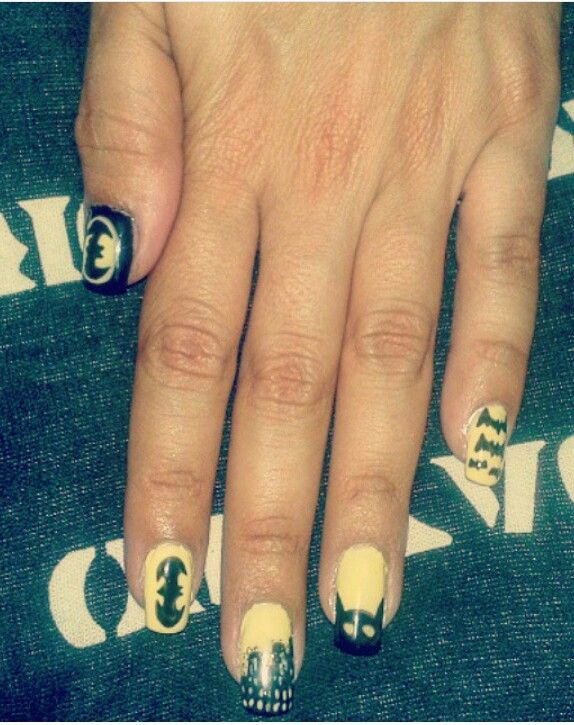 #nailart #batman #gothamcity #naildesigns #love #dc