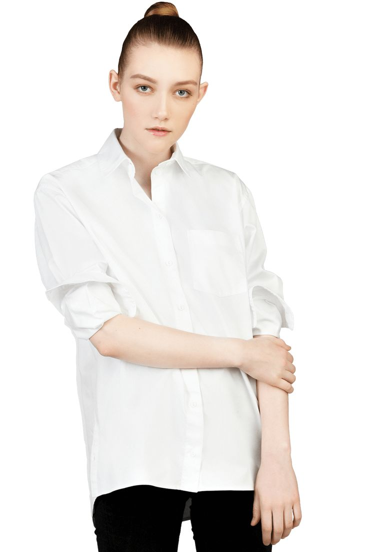 Big White Shirt from Egyptian easy-iron cotton twill.
