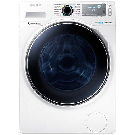 Buy Samsung WD90J7400GW Freestanding Washer Dryer, 9kg Wash/6kg Dry Load, A Energy Rating, 1400rpm Spin, White Online at johnlewis.com