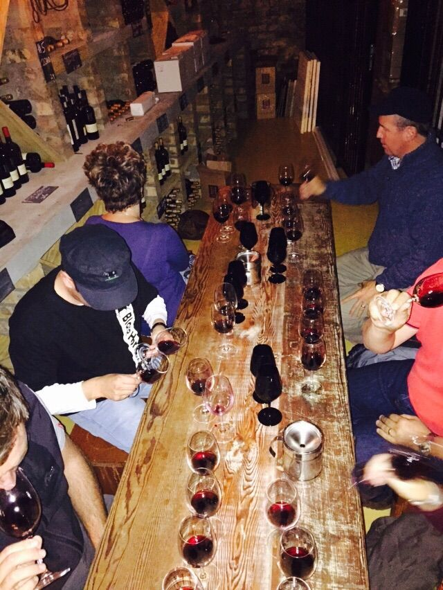 Vertical and black glass tastings in our vinoteek