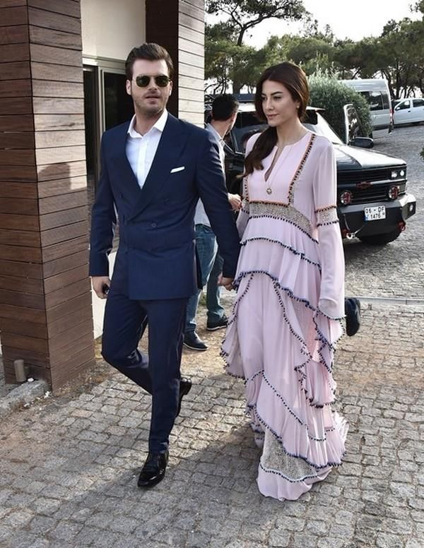 Kıvanç & her Başak wife at Kenan Imırzalıöğlu wedding ceremony.