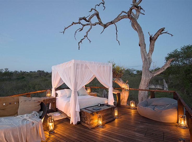 Aangezien we het idee van een boomhut alleen al opwindend genoeg vinden, laten deze romantische boomhutten middenin de Zuid-Afrikaanse wildernis onze wildste boomhutd...