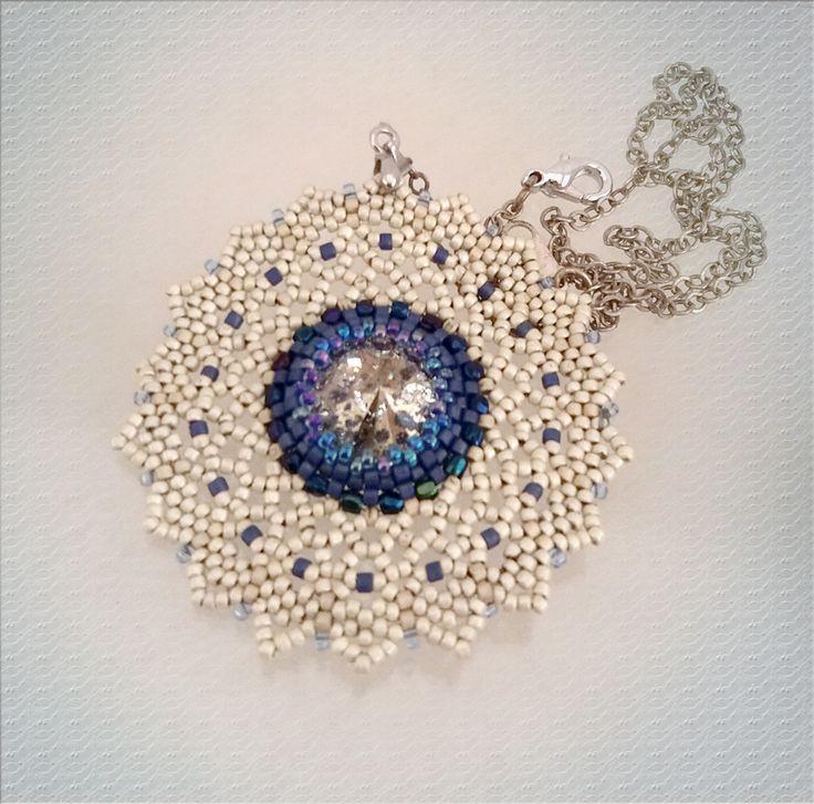 beaded jewelry - украшения из бисера - кулон