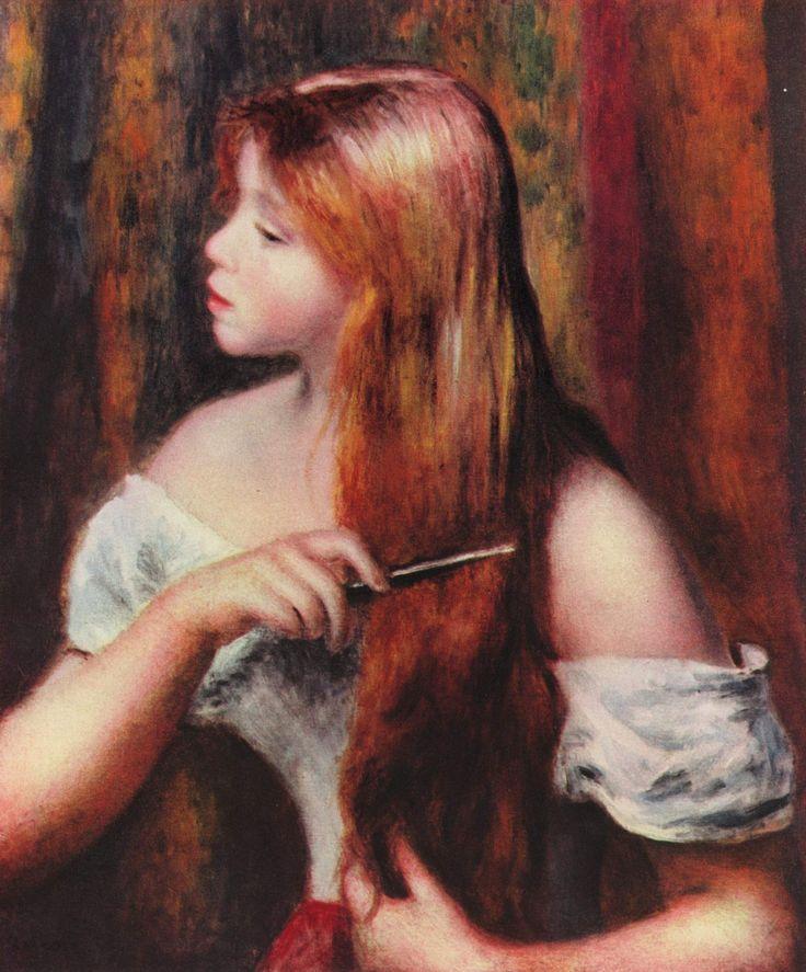 Jeune fille coiffant ses cheveux, Pierre-Auguste Renoir, 1894.