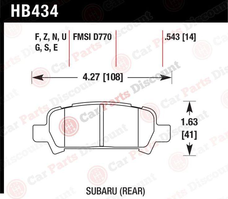 Hawk Performance Disc Brake Pad, Hb434e.543 #car #truck #parts #brakes #brake #pads #shoes #hb434e543hb434e543