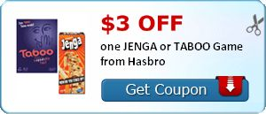 Coupon for taboo game