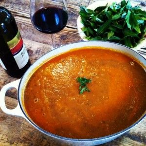 Bloody delicious roasted aubergine and tomato soup  http://sweetmotherofblog.com/bloody-delicious-roasted-aubergine-soup/  Made from homegrown aubergines and tomatoes.  Super simple.  So good.  #homegrown, #aubergines, #eggplants, #soup, #recipe,