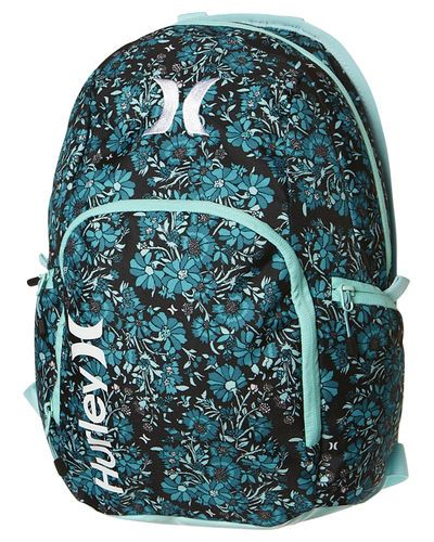 SURFSTITCH - BAGS - BACKPACKS - HURLEY COMPACT 2.0 BACKPACK - BLACK SHELL BLUE