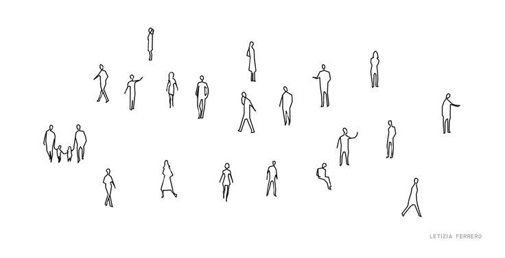architecture people drawings silhouettes - Buscar con Google