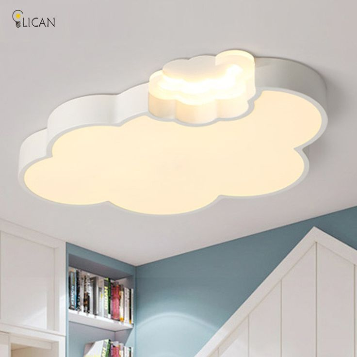 Cheap Lican Led Cloud Kids Bedroom Lighting Kids Ceiling Lamp Baby