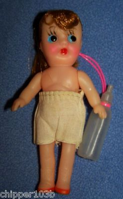 Dime Store Mini Vinyl Rooted Hair Pony Tail Doll 1950 S