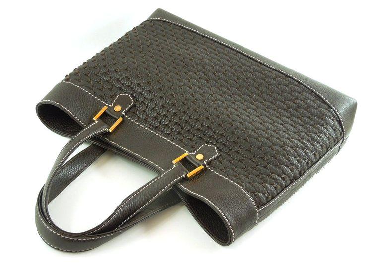 Chopard Shoulder bag St. Tropez 1860 Dark Brown Braided Leather  - MarteModena