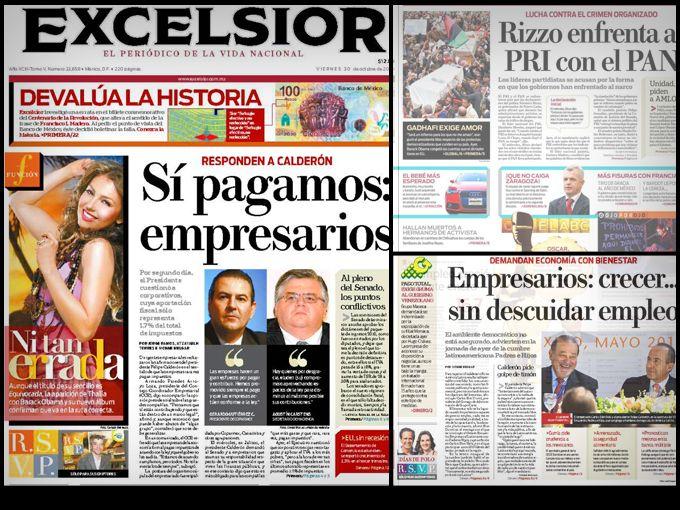 Este año en la 32 edición anual de The World of Newspaper Design realizada por la Society of News Design, Excélsior, el periódico de la vida nacional, ha sido reconocido con el premio Wolrd's Best-Designed (Periódico Mejor Diseñado del Mundo).