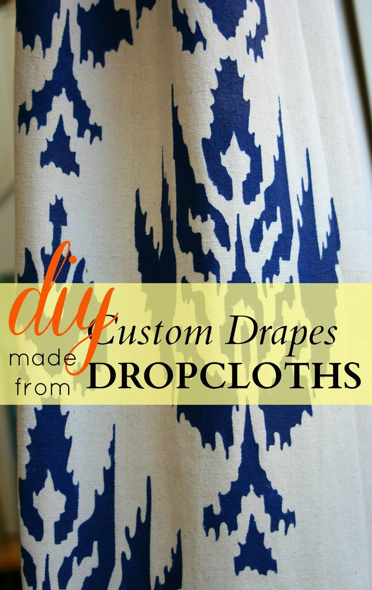Pictures Of Drop Cloth Drapes To Create Custom Drapery Panels Using Painter S Drop Cloths