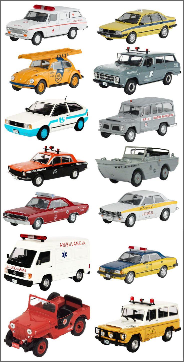 Veículos de Serviço do Brasil é uma coleção de modelos super realistas para você colecionar. Tenha em sua estante os principais carros de serviço do Brasil.