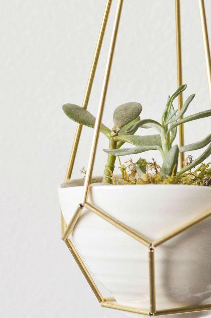 diy, himmeli, plant hanger, modern home decor, indoor plants