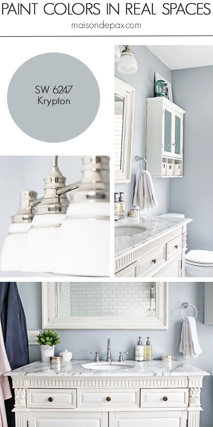 Bathroom paint ideas blue - Krypton Sw 6247 By Sherwin Williams See Paint Colors In Real Spaces In