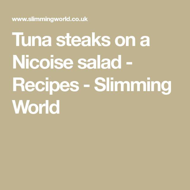 Tuna steaks on a Nicoise salad - Recipes - Slimming World