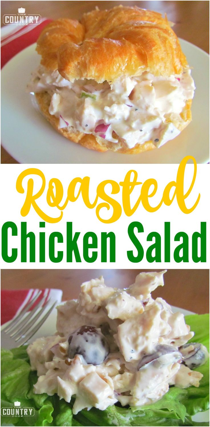Roasted Chicken Salad recipe from The Country Cook